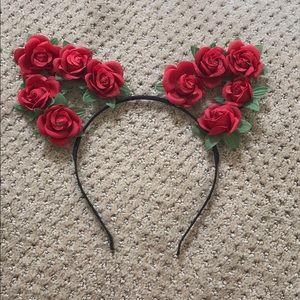 Urban Outfitters Flower Ears Headband